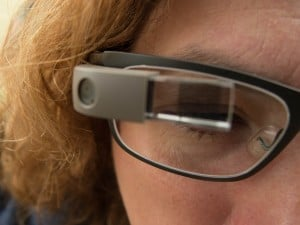 Looking through Google Glass