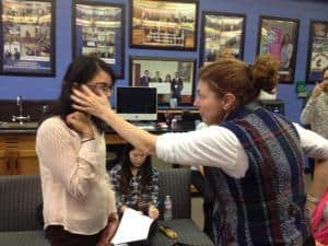 Here I explain to a student how Google Glass works
