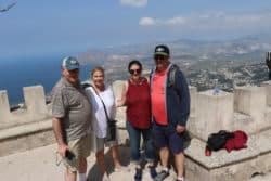 Hilary and family in Trapani