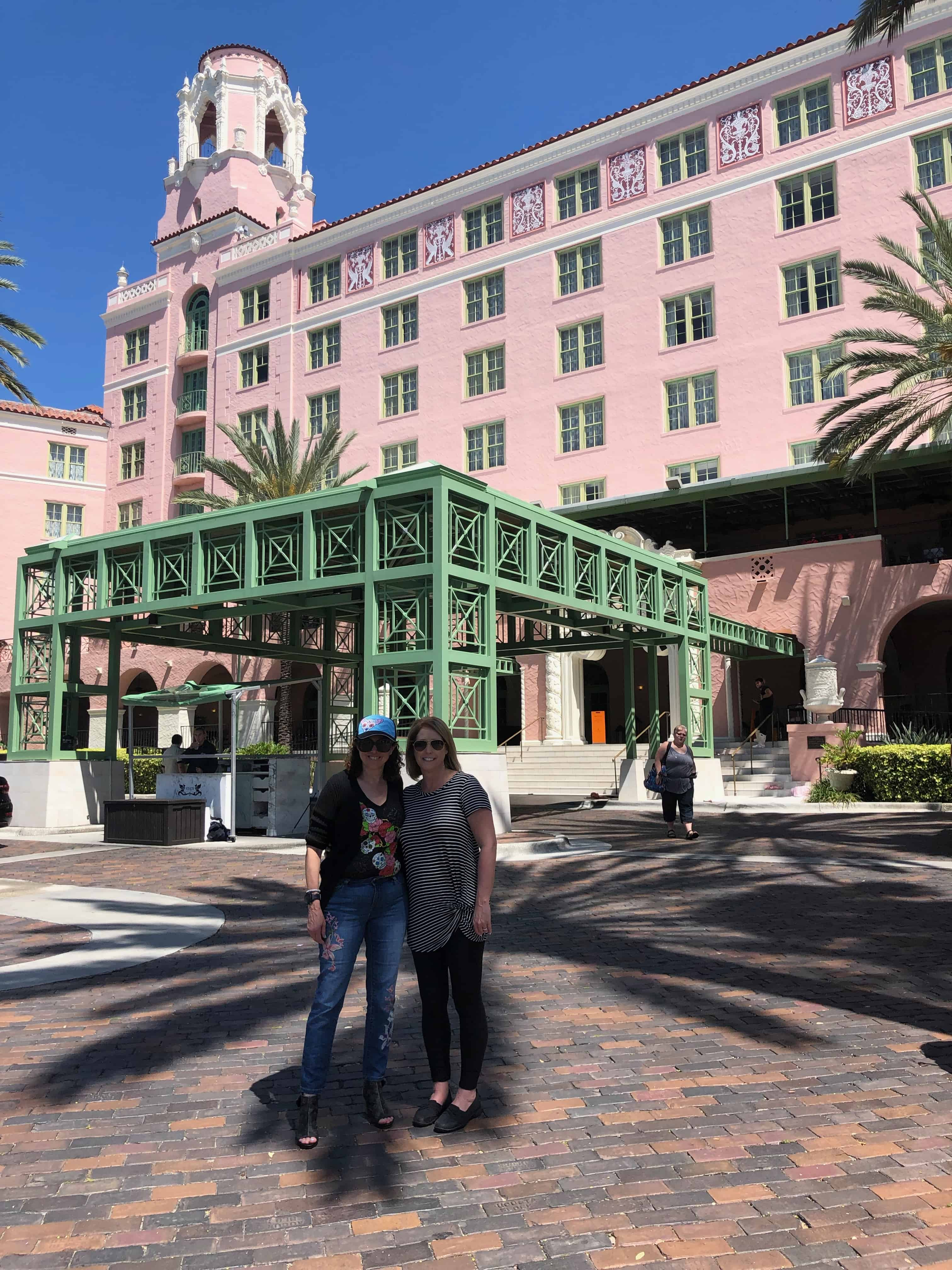 We are standing in front of the Vinoy Hotel in St. Petersburg, Florida